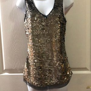 CACHÉ Sequin Top
